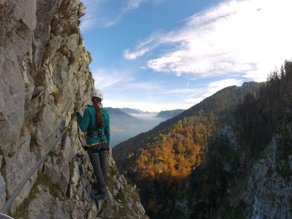 Klettersteig Drachenwand : Klettersteig check drachenwand am mondsee u berghasen